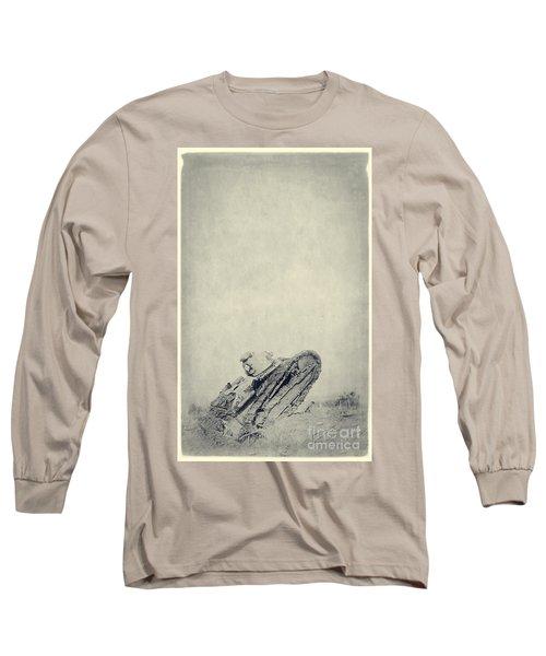 World War I Tank In Trench Warfare Long Sleeve T-Shirt
