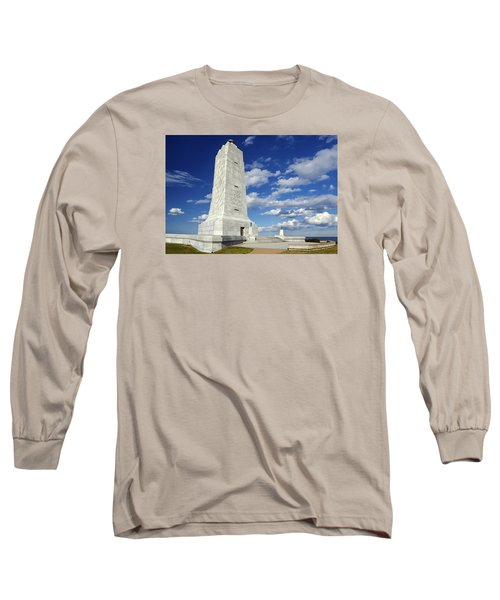 Wright Brothers Memorial D Long Sleeve T-Shirt by Greg Reed