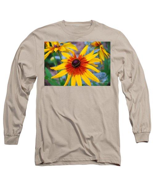 Long Sleeve T-Shirt featuring the photograph Yellow Burst by Allen Beatty