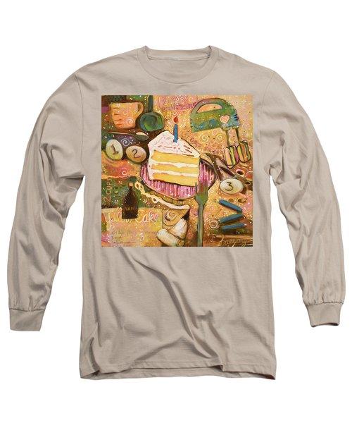 Yellow Cake Recipe Long Sleeve T-Shirt