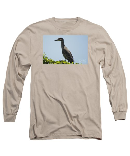 Yellow-crowned Night-heron Long Sleeve T-Shirt
