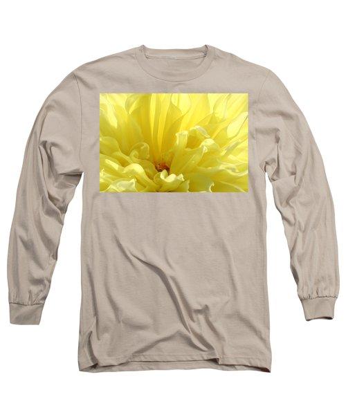Yellow Dahlia Burst Long Sleeve T-Shirt