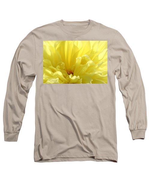 Yellow Dahlia Burst Long Sleeve T-Shirt