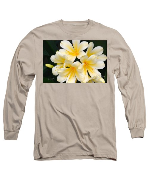 Long Sleeve T-Shirt featuring the photograph Clivia Yellow Flowers by Jeannie Rhode