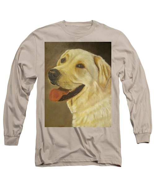 Yellow Lab Long Sleeve T-Shirt by Sharon Schultz