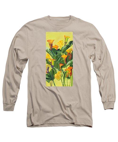 Yellow Lilies Long Sleeve T-Shirt