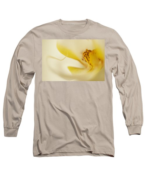 Yellow Orchid Long Sleeve T-Shirt by Bradley R Youngberg
