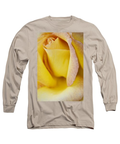 Yellow Rose Long Sleeve T-Shirt by Lana Enderle