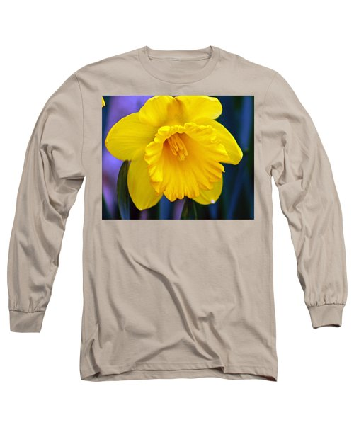Long Sleeve T-Shirt featuring the photograph Yellow Spring Daffodil by Kay Novy