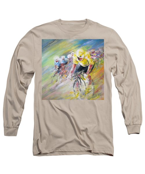 Yellow Triumph Long Sleeve T-Shirt by Miki De Goodaboom