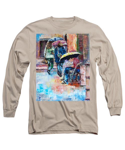 Yellow Umbrella Long Sleeve T-Shirt