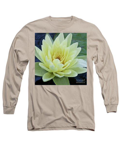 Yellow Water Lily Nymphaea Long Sleeve T-Shirt