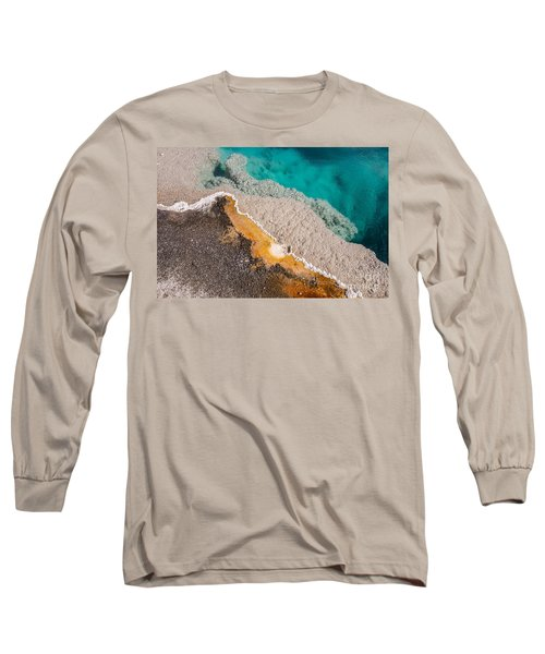 Long Sleeve T-Shirt featuring the photograph Yellowstone Abstract by Sue Smith