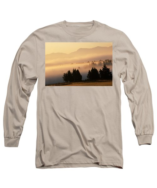 Yellowstone Sunrise Long Sleeve T-Shirt by Steve Archbold