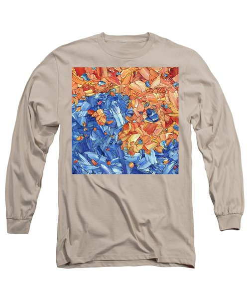 Long Sleeve T-Shirt featuring the painting Yin-yang by James W Johnson