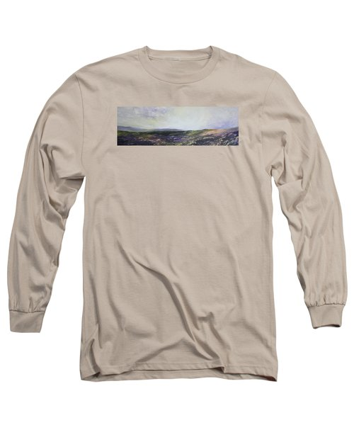 Long Sleeve T-Shirt featuring the painting Yorkshire Moors by Jean Walker