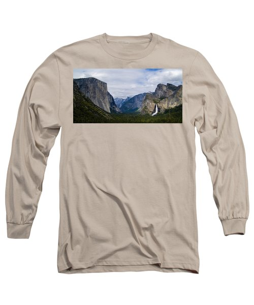 Yosemite Valley Panoramic Long Sleeve T-Shirt