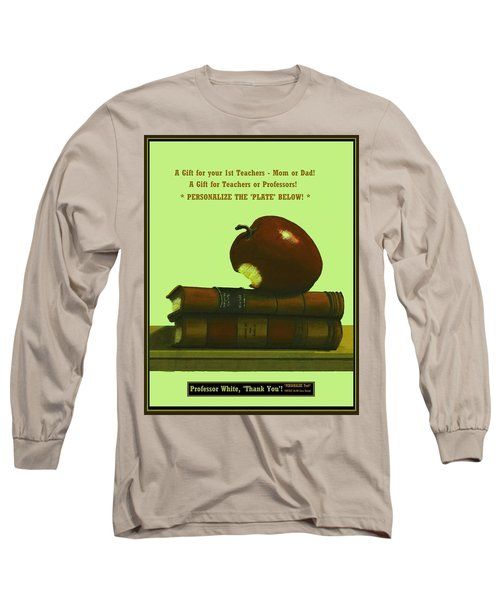 You Add Personalized Text On Plate  # 6 3 Long Sleeve T-Shirt