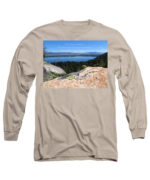 Long Sleeve T-Shirt featuring the photograph You Can Make It. Inspiration Point by Ausra Huntington nee Paulauskaite