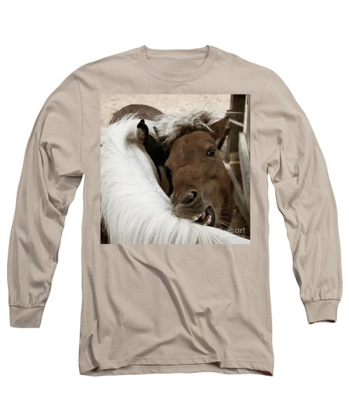 You Scratch Mine Long Sleeve T-Shirt by Carol Lynn Coronios