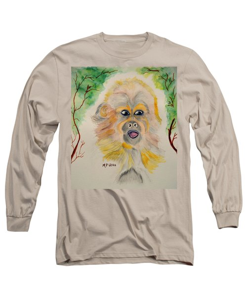 You Silly Monkey Long Sleeve T-Shirt by Maria Urso