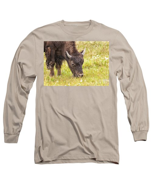 Long Sleeve T-Shirt featuring the photograph Young Bison by Belinda Greb