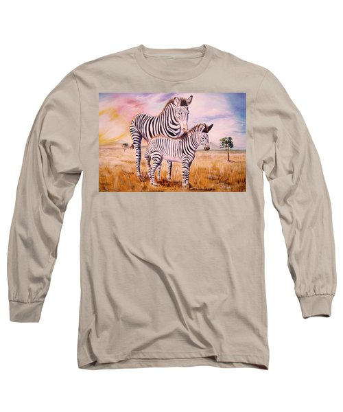 Zebra And Foal Long Sleeve T-Shirt