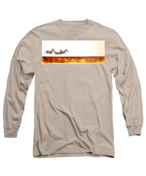Zebra Crossing - Original Artwork Long Sleeve T-Shirt