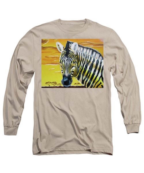 Long Sleeve T-Shirt featuring the painting As Day As Night by Thomas J Herring