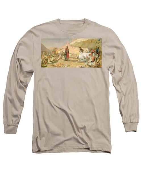 A Frank Encampment In The Desert Of Mount Sinai Long Sleeve T-Shirt