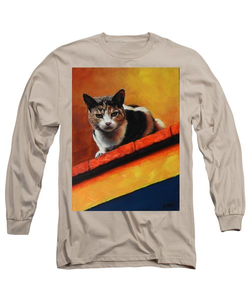 A Top Cat In The Shadow, Peru Impression Long Sleeve T-Shirt