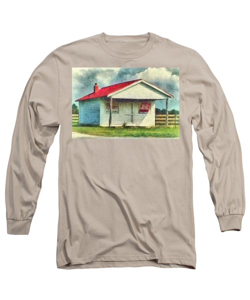 Long Sleeve T-Shirt featuring the painting Royster Fertilizers  by Lynne Jenkins