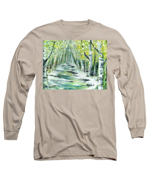 Long Sleeve T-Shirt featuring the painting Spring by Shana Rowe Jackson