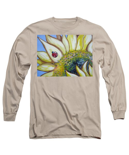 Sunflower And Ladybug Long Sleeve T-Shirt