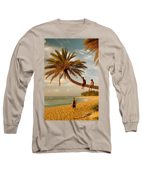 Sunset Beach Oahu Long Sleeve T-Shirt