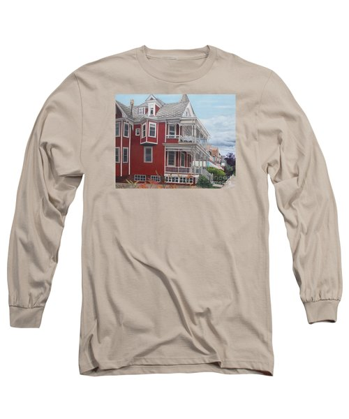 Victorian Afternoon Cape May Long Sleeve T-Shirt by Barbara Barber