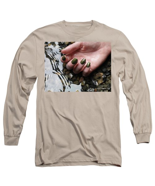 Woman Hand In Water Long Sleeve T-Shirt