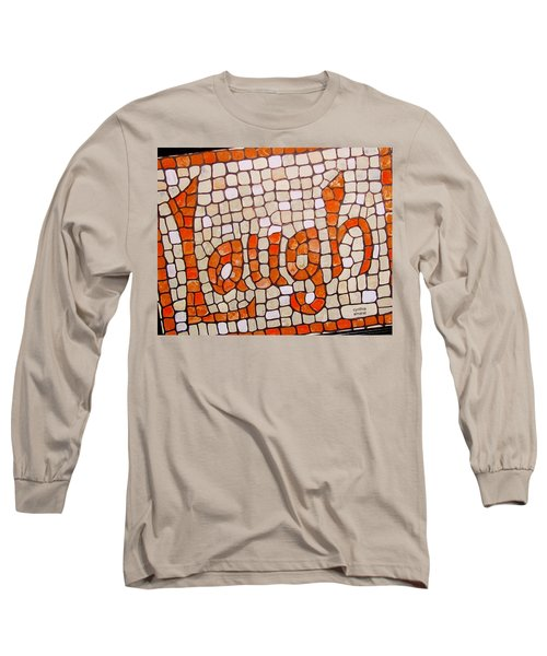 Long Sleeve T-Shirt featuring the painting Laugh by Cynthia Amaral