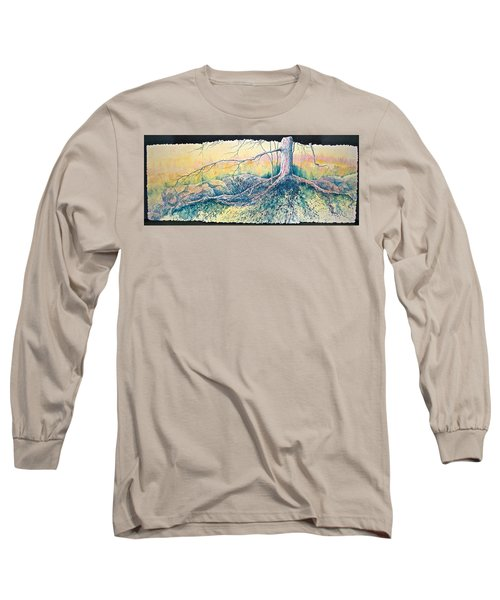 Long Sleeve T-Shirt featuring the painting Rooted In Time by Carolyn Rosenberger