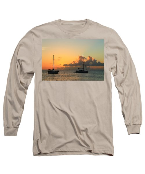Long Sleeve T-Shirt featuring the photograph Sunset by Catie Canetti
