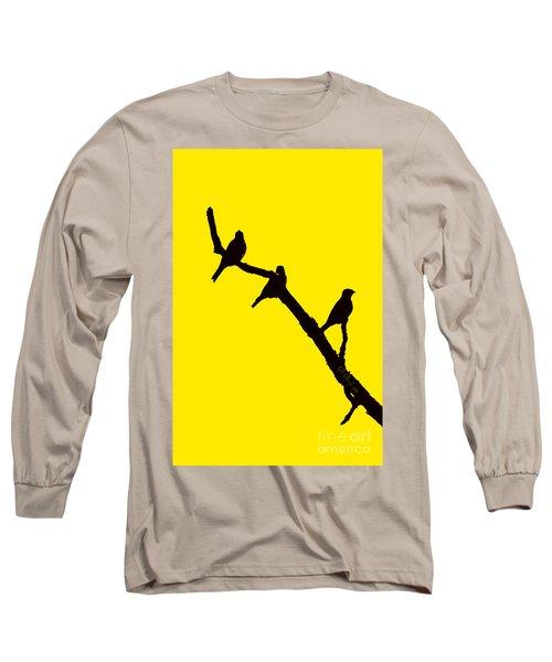 3 Birds On A Limb Long Sleeve T-Shirt