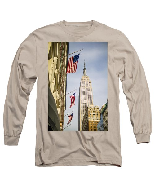 Long Sleeve T-Shirt featuring the photograph Empire State Building by Theodore Jones