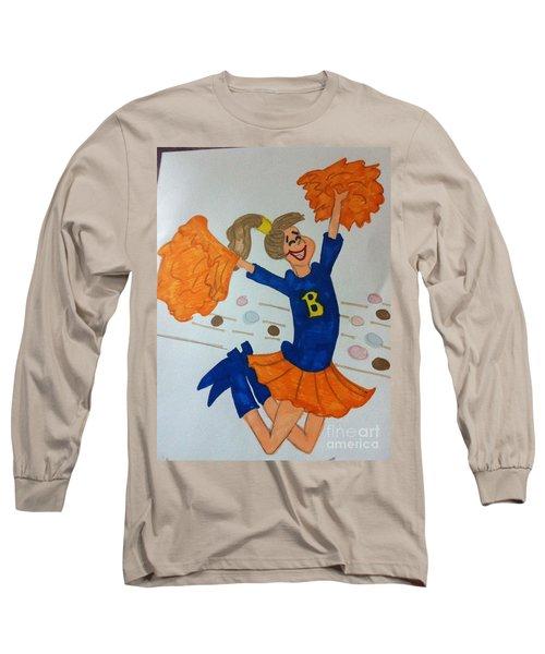 A Cheerful Cheerleader Long Sleeve T-Shirt