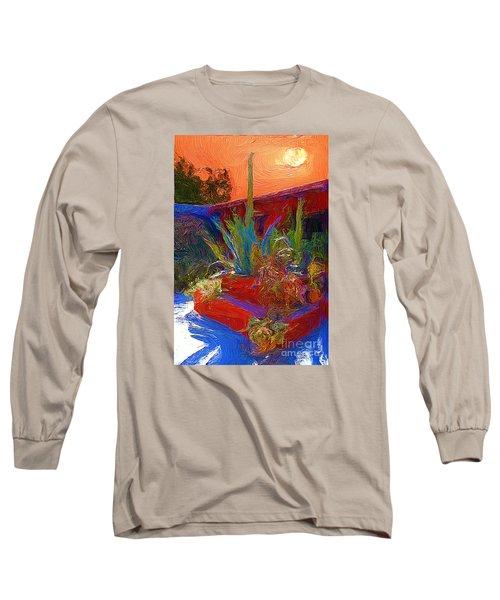 A Garden In Pozos Long Sleeve T-Shirt by John  Kolenberg