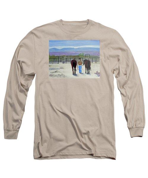 Texas - A Good Ride Long Sleeve T-Shirt by Christine Lathrop