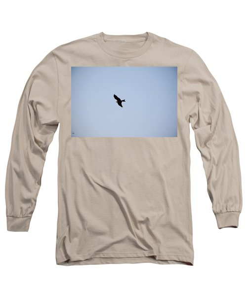 Long Sleeve T-Shirt featuring the photograph A Kite Flying High In The Sky by Ashish Agarwal