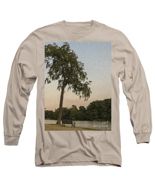 A Lonely Park Bench Long Sleeve T-Shirt