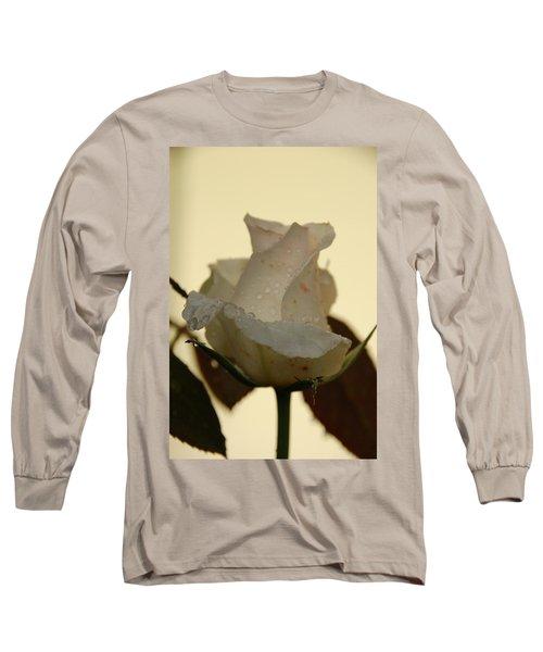 A Single White Rose Long Sleeve T-Shirt