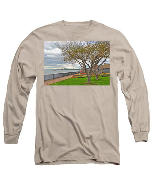 Long Sleeve T-Shirt featuring the photograph A View From The Garden by Michael Frank Jr