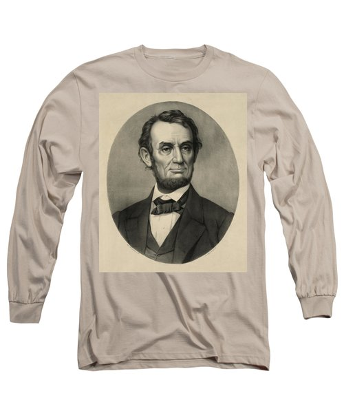 Long Sleeve T-Shirt featuring the photograph Abraham Lincoln Portrait by International  Images